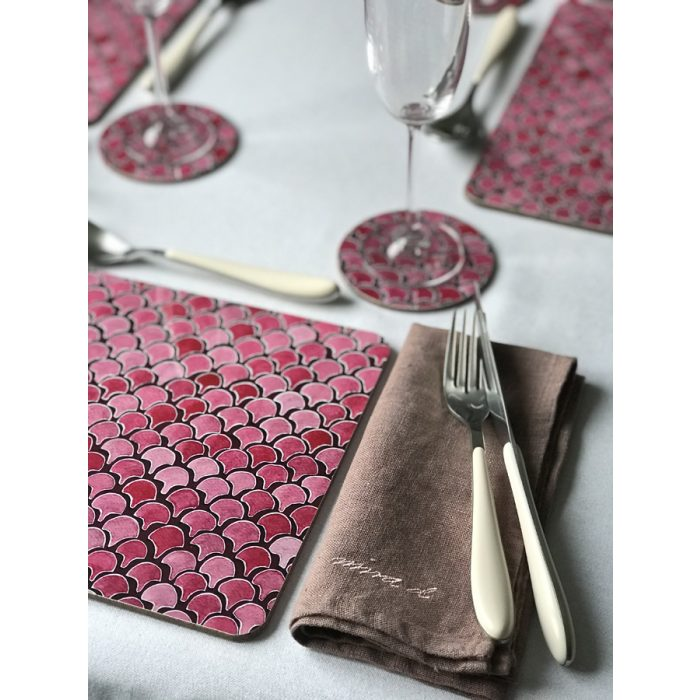 Table Mats Placemats Melamine Pink Gloss Ida-Lilja