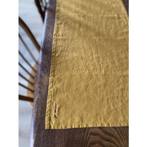 Mustard Linen Table Runner