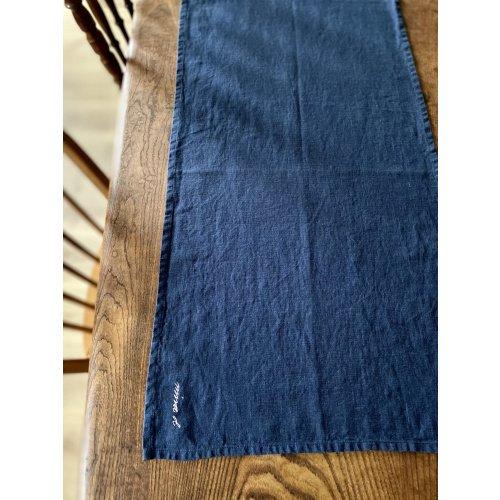Navy Linen Table Runner