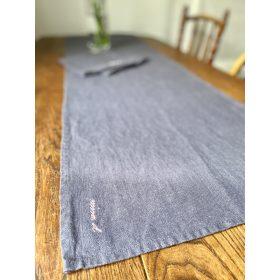Linen Table Runner Dark Grey