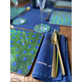 Napkin Linen Navy Handmade