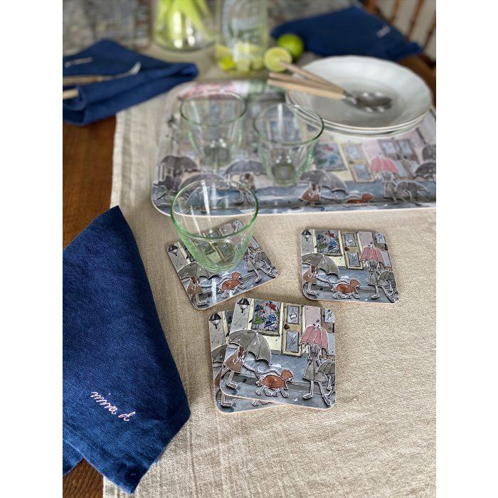 Coasters Linen Tray