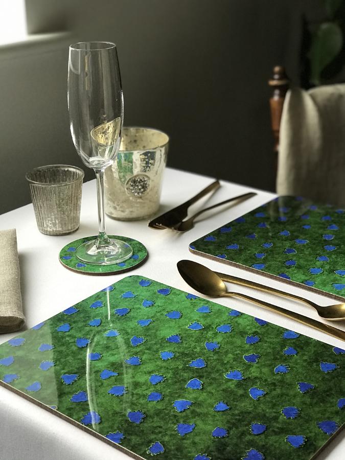 Placemats Place mats Tablets Table Mats Melamine Emerald Green Skoghsyddan