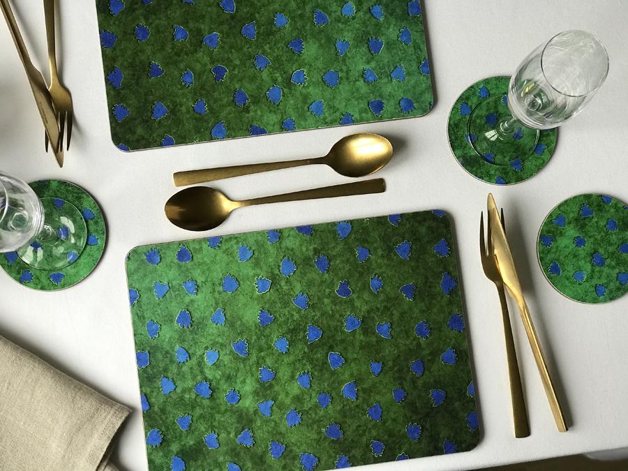 Placemats Dark Green Emerald Melamine Skogshyddan