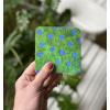 Coaster, gloss, green, blue, cork, melamine, Skogshyddan