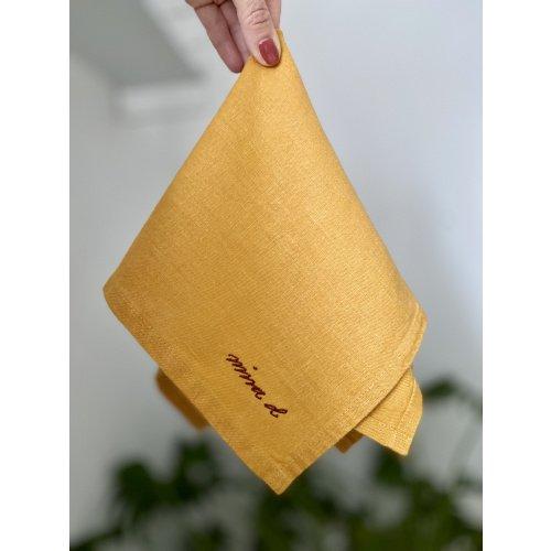 Mustard Yellow Linen Napkin